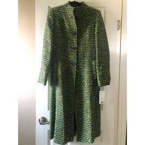 Via Spiga Green Tweed Coat - NWT!